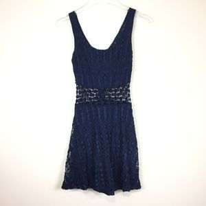 Trixxi | Navy Lace Dress With Unlined  Waist |Sz 1